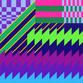 geometric acrylic painting