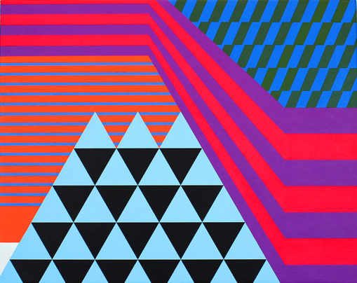 vibrant geometric art