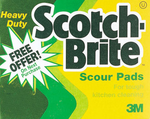 scotch brite scouring pad by 3m