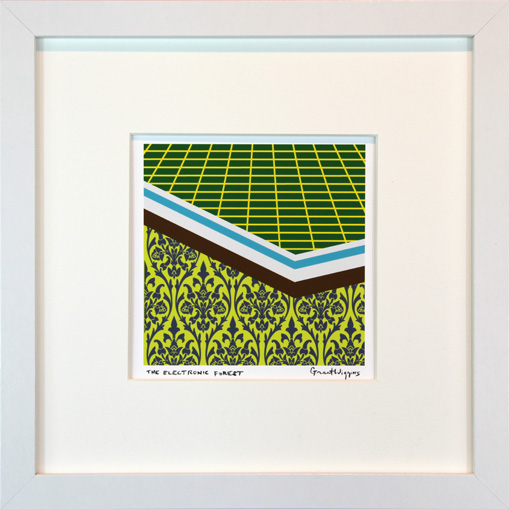 'The Electronic Forest' Framed Print by Grant Wiggins