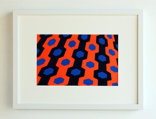 geometric framed art