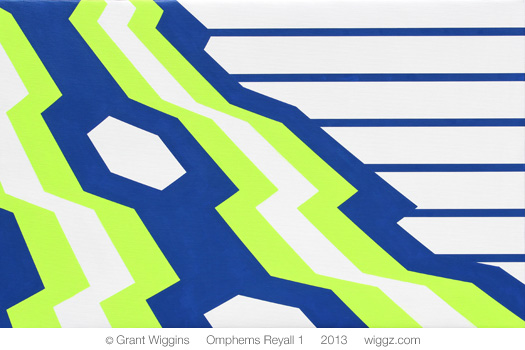 Graphic Geometric Art by Grant Wiggins - Omphems Reyall 1