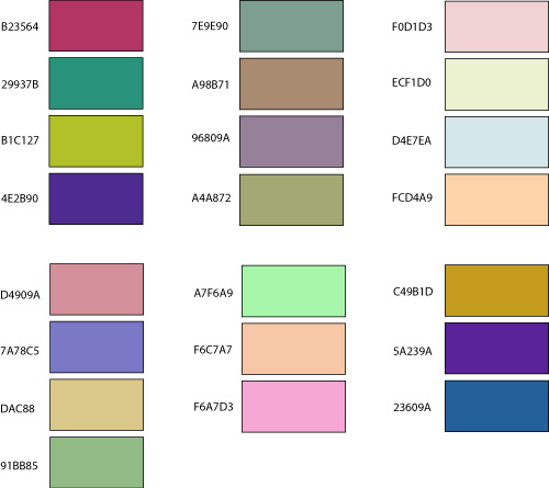 randomized color combinations
