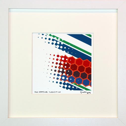 Self-Erasing Composition Framed Print by Grant Wiggins