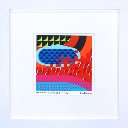 'The Future, Multiplied by Today' Framed Print by Grant Wiggins