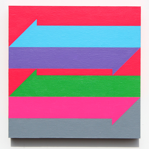 colorful hard-edge painting