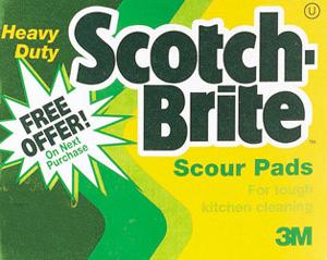 scotch brite scouring pad by 3m