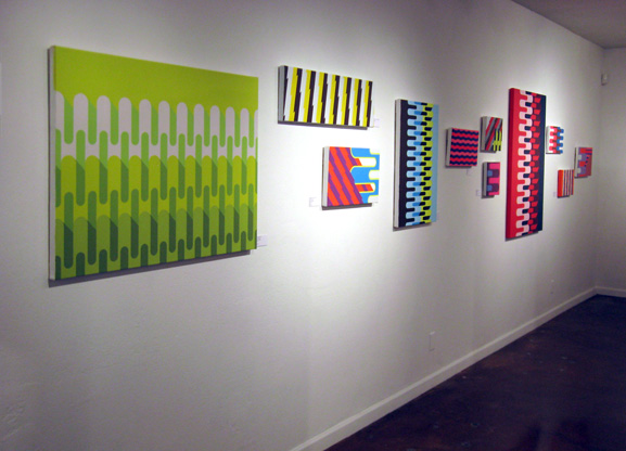 Paintings by Grant Wiggins in '4Square' at Squeeze Gallery