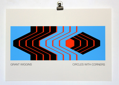 'Circles with Corners' Unframed Print by Grant Wiggins