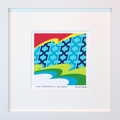 'I Got Distracted by the Grass' Framed Print by Grant Wiggins