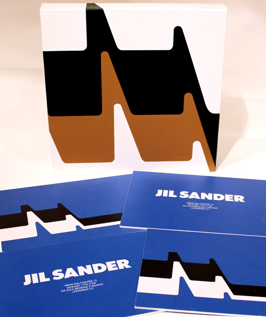 Blactan by Grant Wiggins with invitations to the runway presentation of Jil Sander's fall 2015 men's collection