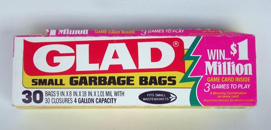 Vintage Glad Garbage Bags