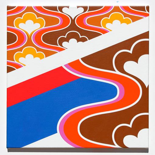 vintage geometric pattern painting by grant wiggins