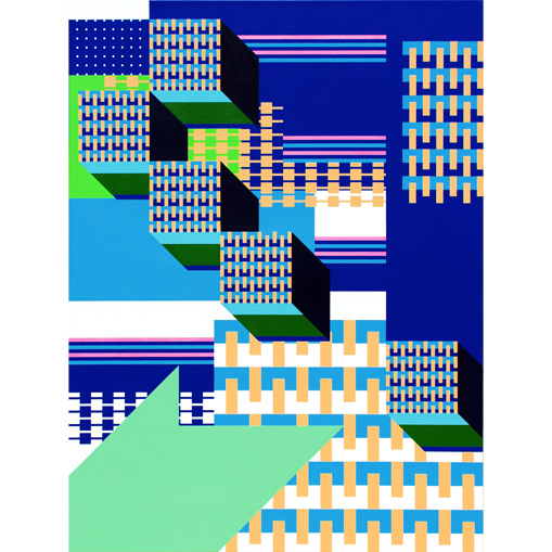 grant wiggins – data disintegration – acrylic on canvas – 2018