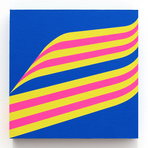 grant wiggins – launch angle – 2018 – acrylic on panel-mounted canvas